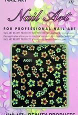 Bell'ure Nail Art Sticker Flowers AK41