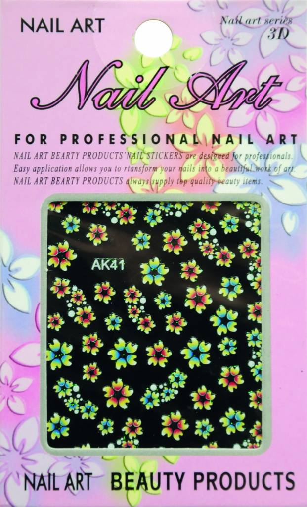 Bell'ure Nail Art Sticker Flowers AK41
