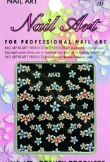 Bell'ure Nail Art Sticker Flowers AK42