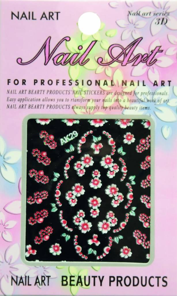 Bell'ure Nail Art Sticker Flowers AK29