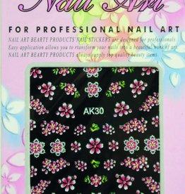Bell'ure Nail Art Sticker Flowers AK30