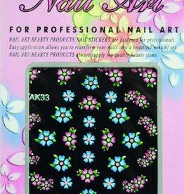 Bell'ure Nail Art Sticker Flowers AK33