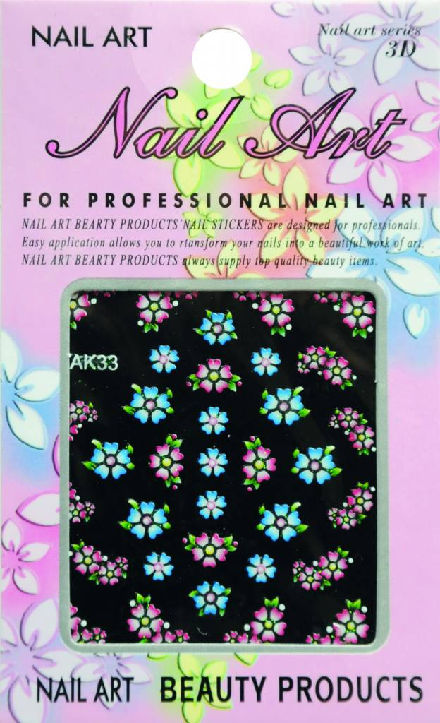 Bell'ure Nail Art Sticker Flowers AK33