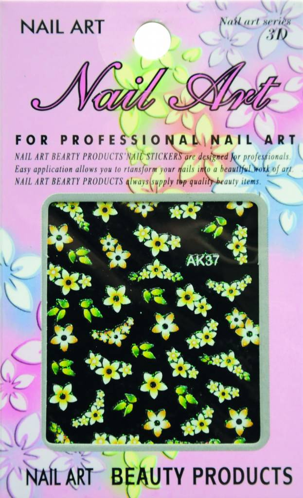 Bell'ure Nail Art Sticker Flowers AK37