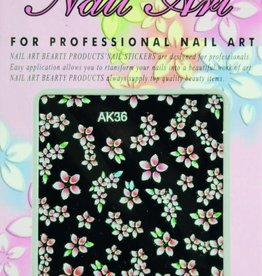 Bell'ure Nail Art Sticker Flowers AK36