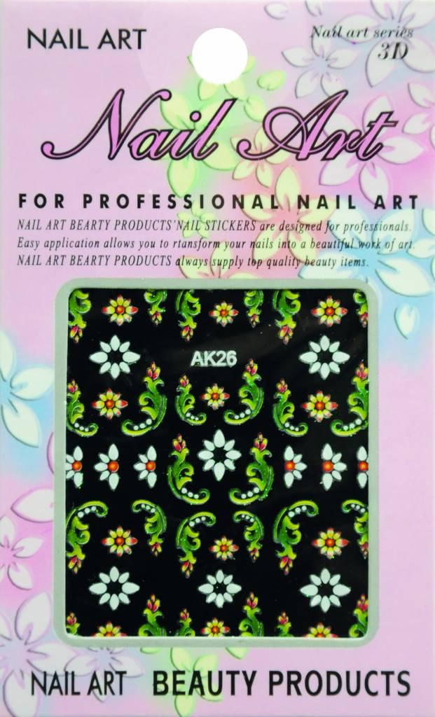 Bell'ure Nail Art Sticker Flowers AK26