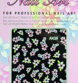 Bell'ure Nail Art Sticker Flowers AK38