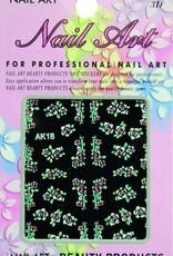 Bell'ure Nail Art Sticker Flowers AK18