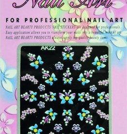 Bell'ure Nail Art Sticker Flowers AK22