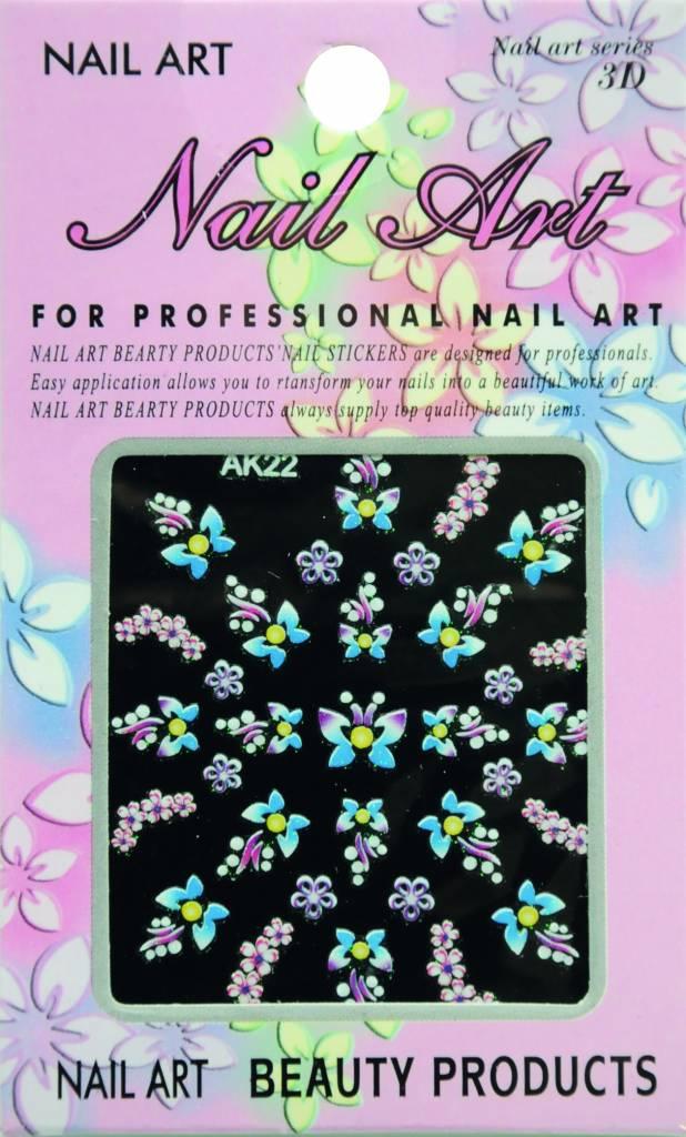 Bell'ure Nail Art Sticker Flowers AK22