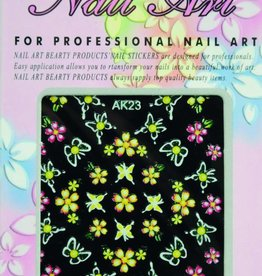 Bell'ure Nail Art Sticker Flowers AK23