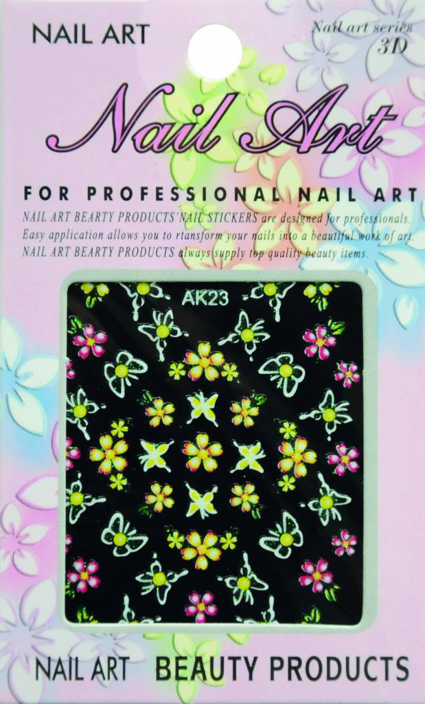 Bell'ure Nail Art Sticker Flowers AK23