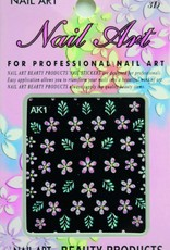 Bell'ure Nail Art Sticker Flowers AK1