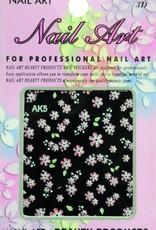 Bell'ure Nail Art Sticker Flowers AK5