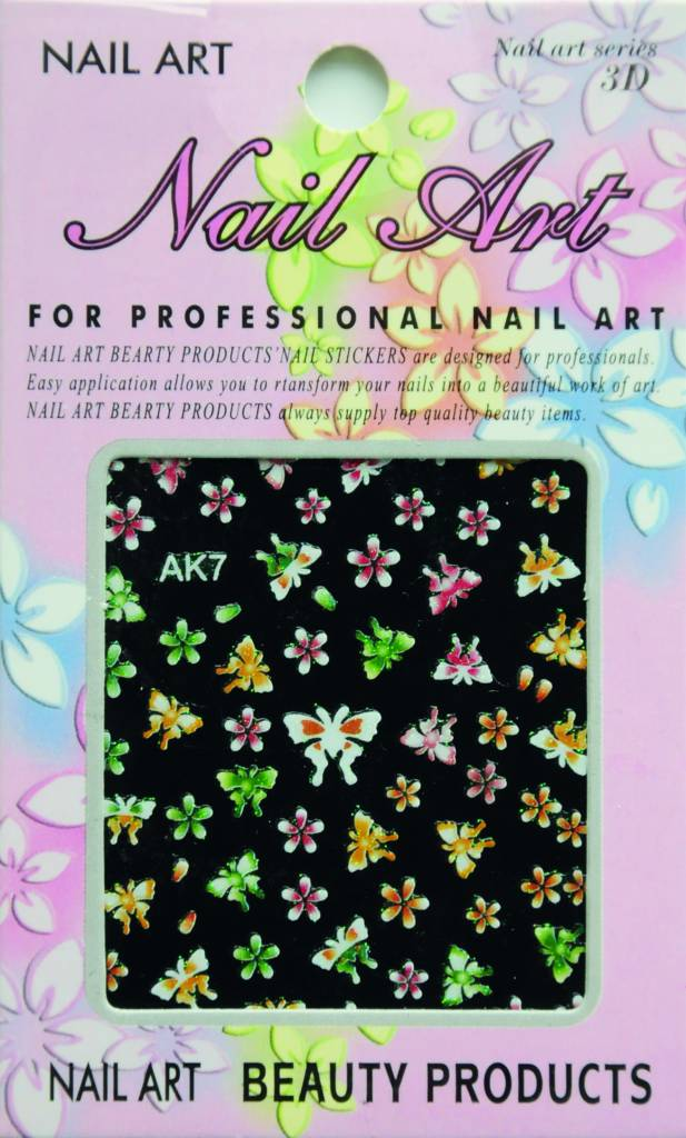 Bell'ure Nail Art Sticker Flowers AK7