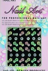 Bell'ure Nail Art Sticker Flowers AK2