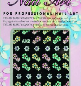 Bell'ure Nail Art Sticker Flowers AK2