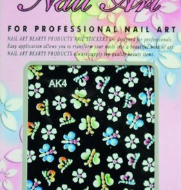 Bell'ure Nail Art Sticker Flowers AK4