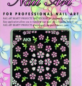 Bell'ure Nail Art Sticker Flowers AK8