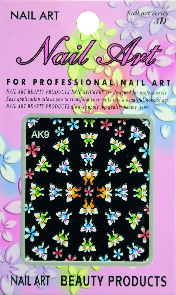 Bell'ure Nail Art Sticker Flowers AK9