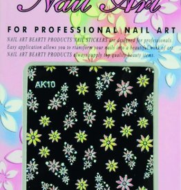 Bell'ure Nail Art Sticker Flowers AK10