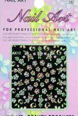 Bell'ure Nail Art Sticker Flowers AK12