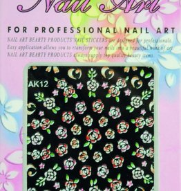 Bell'ure Nail Art Sticker Flowers AK12
