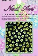 Bell'ure Nail Art Sticker Flowers AK14
