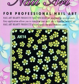 Bell'ure Nail Art Sticker Flowers AK14