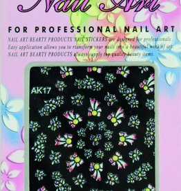 Bell'ure Nail Art Sticker Flowers AK17