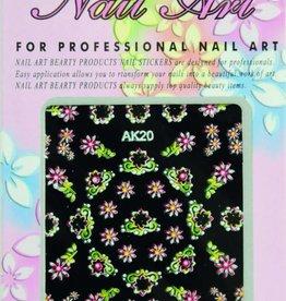 Bell'ure Nail Art Sticker Flowers AK20
