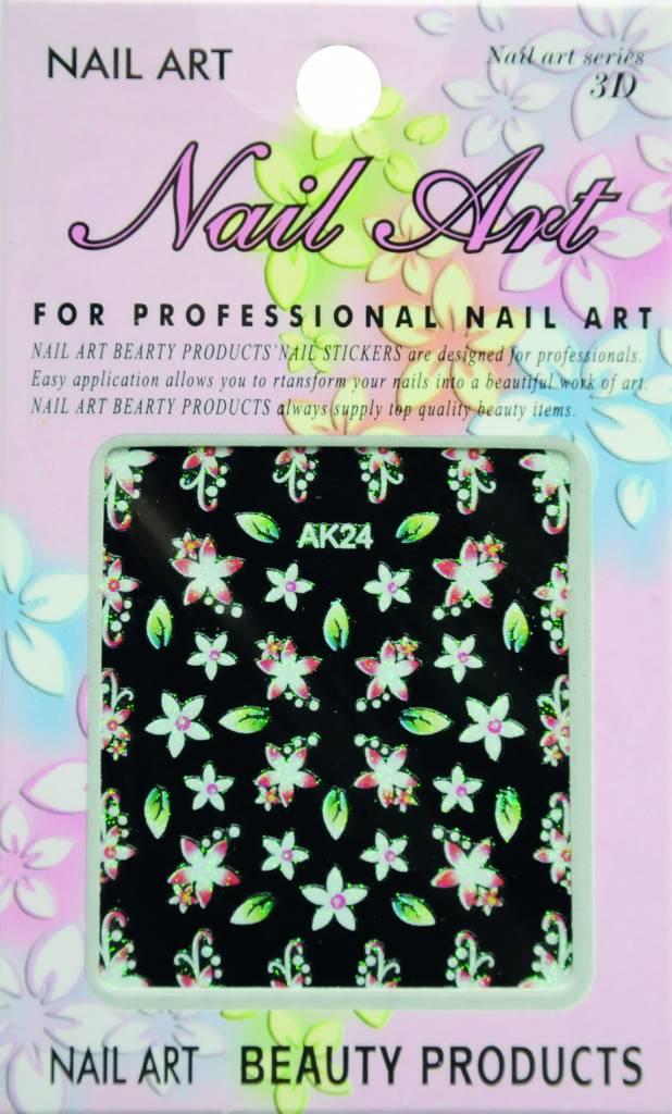 Bell'ure Nail Art Sticker Flowers AK24