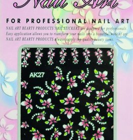 Bell'ure Nail Art Sticker Flowers AK27