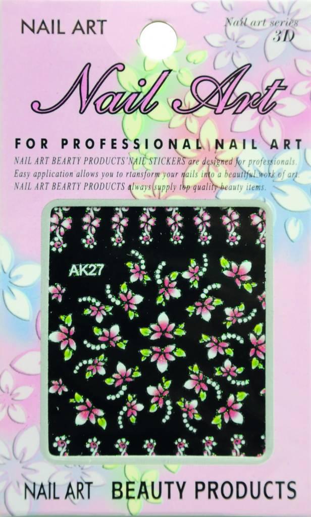 Bell'ure Nail Art Sticker Flowers AK27