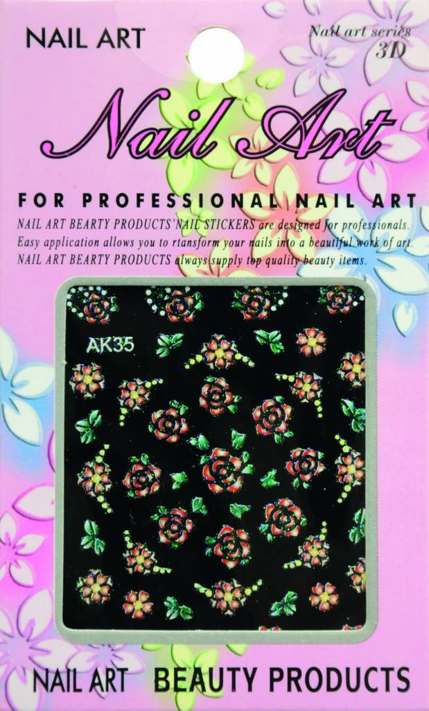 Bell'ure Nail Art Sticker Flowers AK35