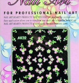 Bell'ure Nail Art Sticker Flowers AK32