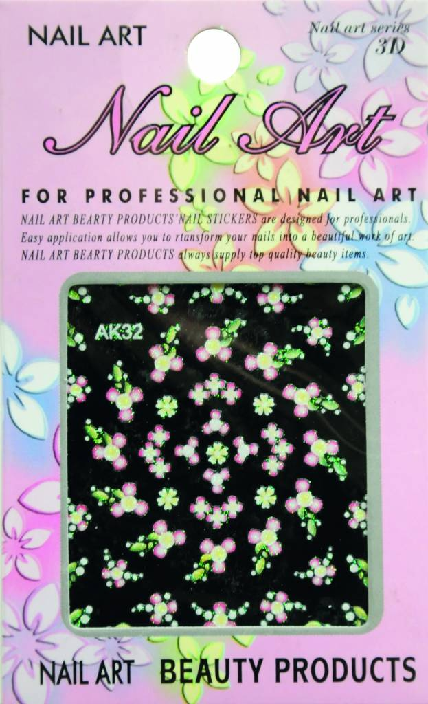 Bell'ure Nail Art Sticker Flowers AK32