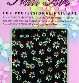 Bell'ure Nail Art Sticker Flowers AK39