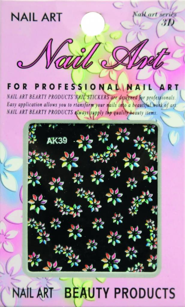 Bell'ure Nail Art Sticker Flowers AK39