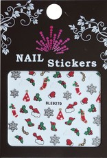 Bell'ure Nail Art Sticker Christmas Socks & Hats