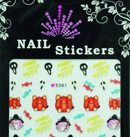 Bell'ure Nail Art Sticker Halloween Fatcat