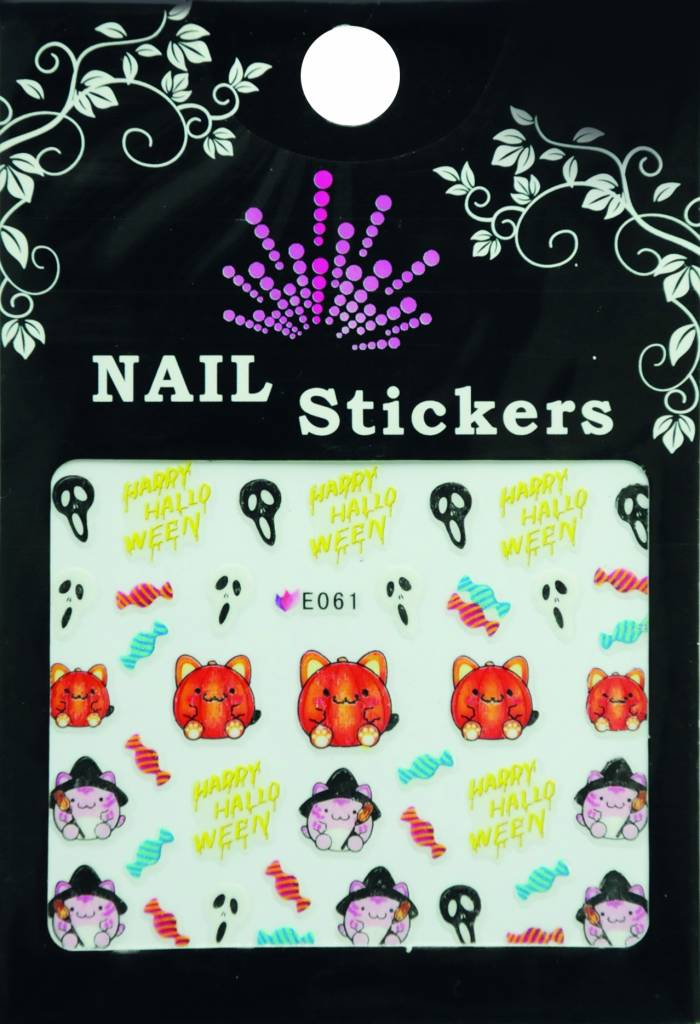 Bell'ure Nail Art Sticker Halloween Fatcat