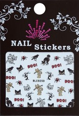 Bell'ure Nail Art Sticker Halloween Black Cats