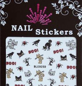 Bell'ure Nail Art Sticker Halloween Black Cats