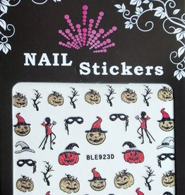 Bell'ure Nail Art Sticker Halloween Scary Pumpkins