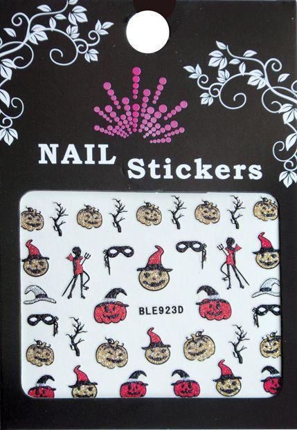 Bell'ure Nail Art Sticker Halloween Scary Pumpkins