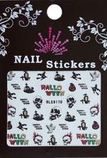 Bell'ure Nail Art Sticker Halloween Skulls On Fire