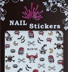 Bell'ure Nail Art Sticker Halloween Pirate Skulls