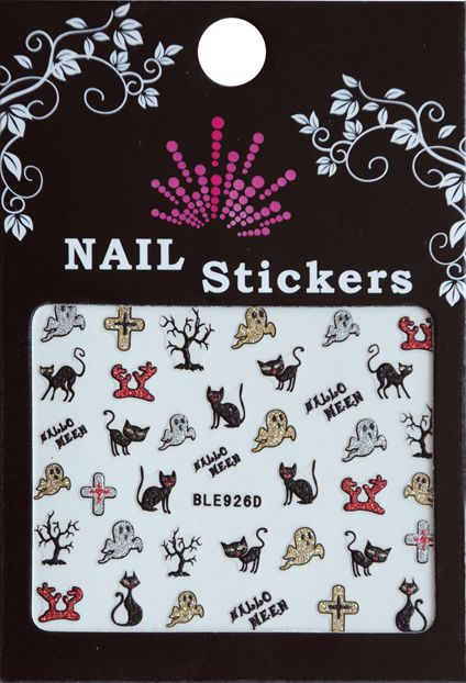 Bell'ure Nail Art Sticker Halloween Cats & Ghosts