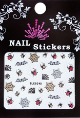 Bell'ure Nail Art Sticker Halloween Spiders & Webs